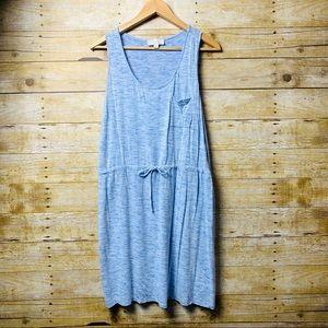 Olive & Oak Blue Tank Dress With Front Pocket